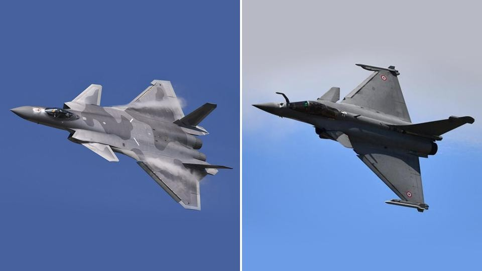 Former Air Chief Marshal BS Dhanoa has always highlighted how Rafale fighter jets (R) are better stealth fighters and are not superior to China's J-20 jets (L). Rafale is 4.5 generation jet.