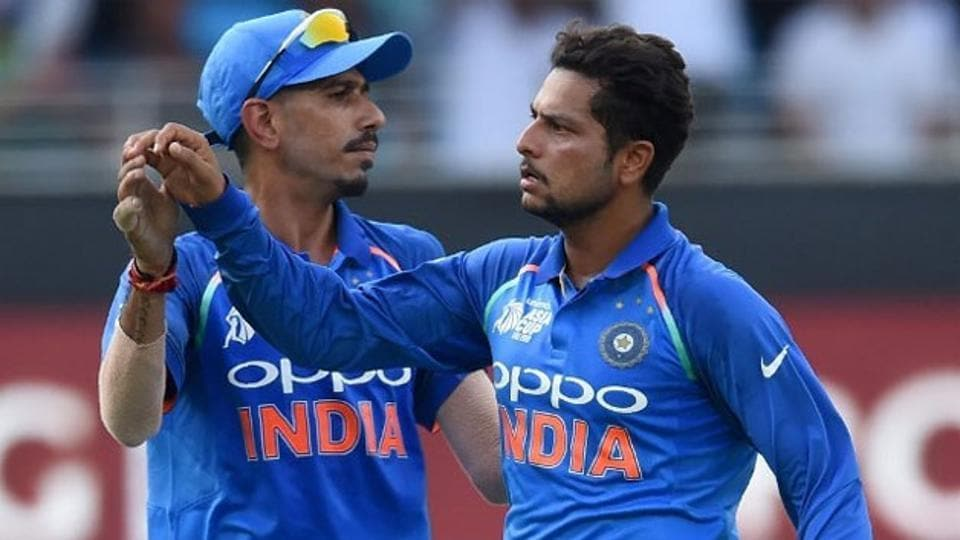 The spin duo of Kuldeep Yadav (L) and Yuzvendra Chahal has been a success for India.
