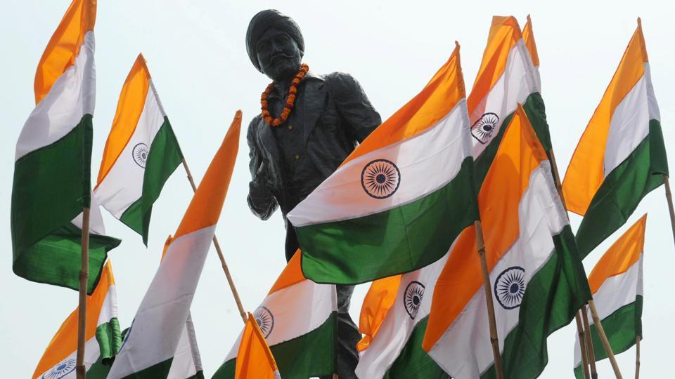 Statue of Indian freedom fighter Shaheed Udam Singh in Amritsar.