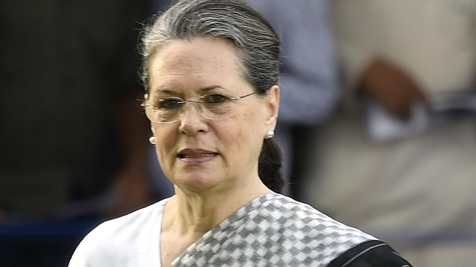 """Sonia Gandhi was admitted to the hospital for """"routine tests and investigations""""."""