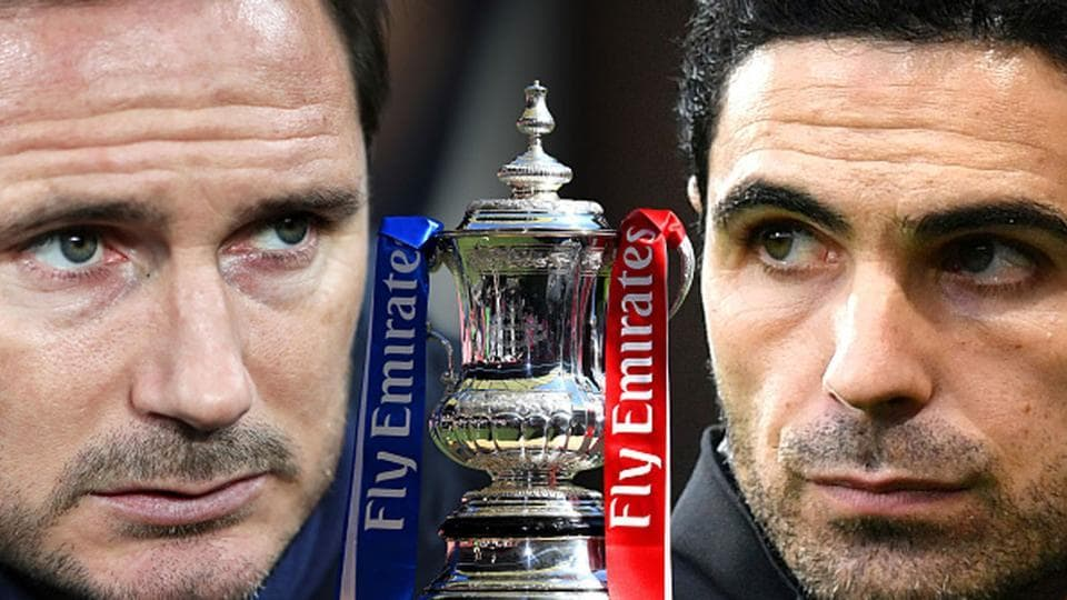 Frank Lampard's Chelsea meet Mikel Arteta's Arsenal in the 2020 FA Cup final Saturday.
