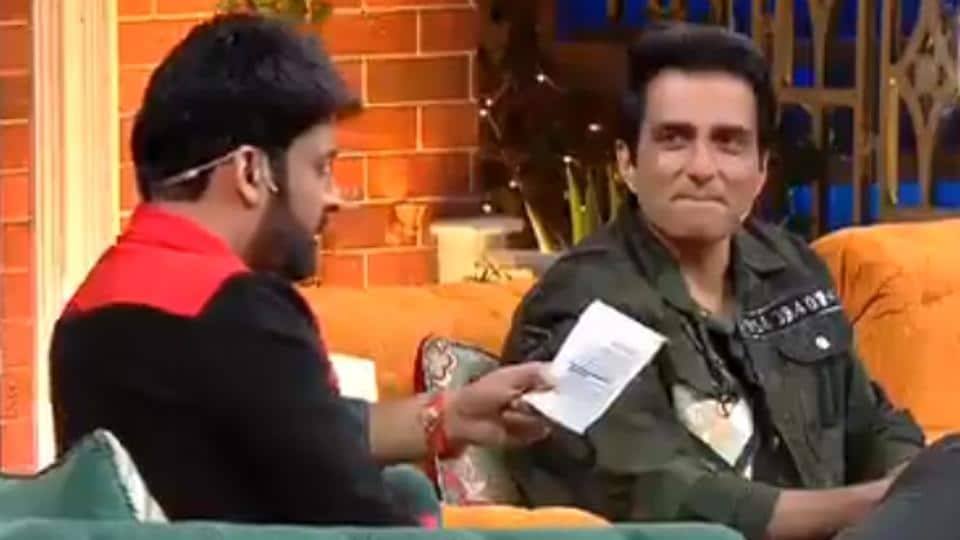 Sonu Sood with Kapil Sharma on The Kapil Sharma Show.