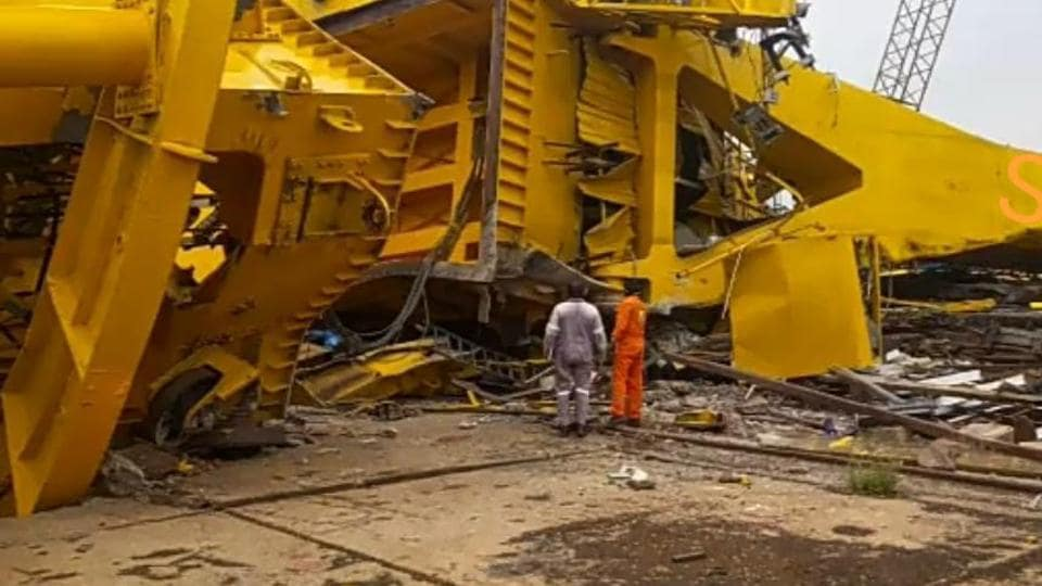 According to the latest reports, three bodies were retrieved from under the debris of the crane and the remaining were believed to be crushed.