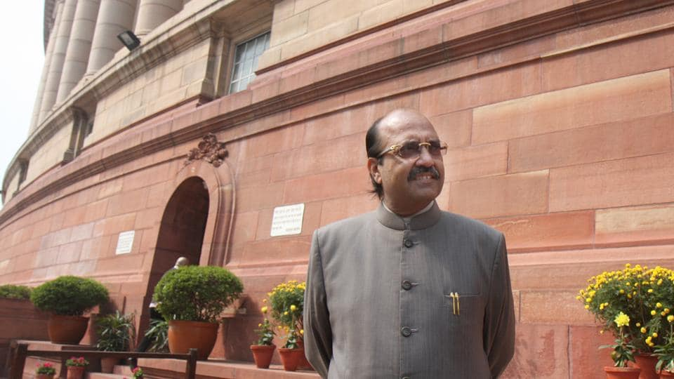 Amar Singh at the Parliament on the first day of the budget session on Monday, February 22, 2007. Rajya Sabha MP Amar Singh died at a Singapore hospital on August 1, 2020.