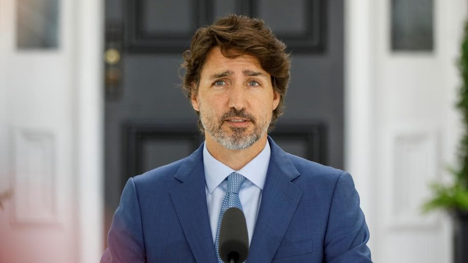 File photo: Canada's Prime Minister Justin Trudeau attends a news conference.