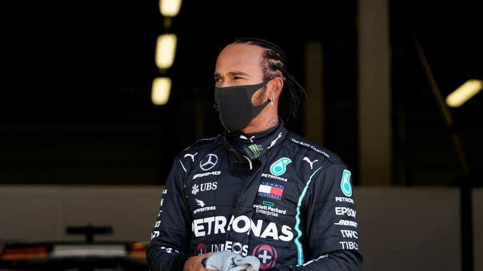Mercedes' Lewis Hamilton after qualifying in pole position Will Oliver/Pool via REUTERS