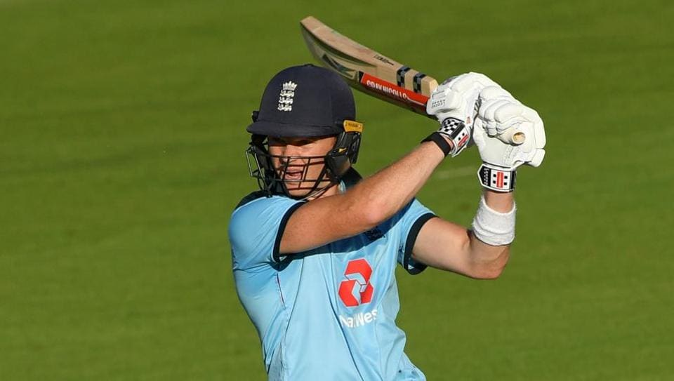 England batsman Sam Billings plays a shot during the first One Day International cricket match between England and Ireland at the Ageas Bowl in Southampton