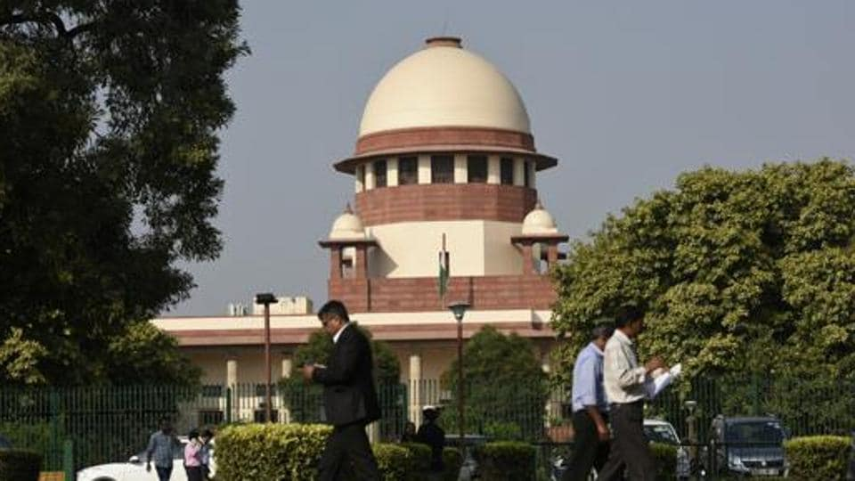 A view of the Supreme Court building, in New Delhi