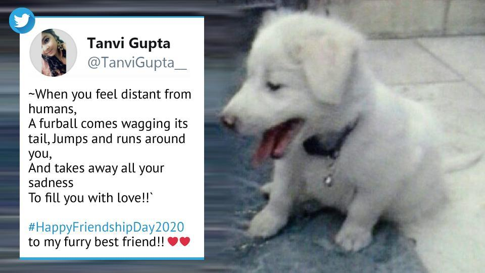 Friendship Day 2020 tweet by a user of the micro-blogging platform.