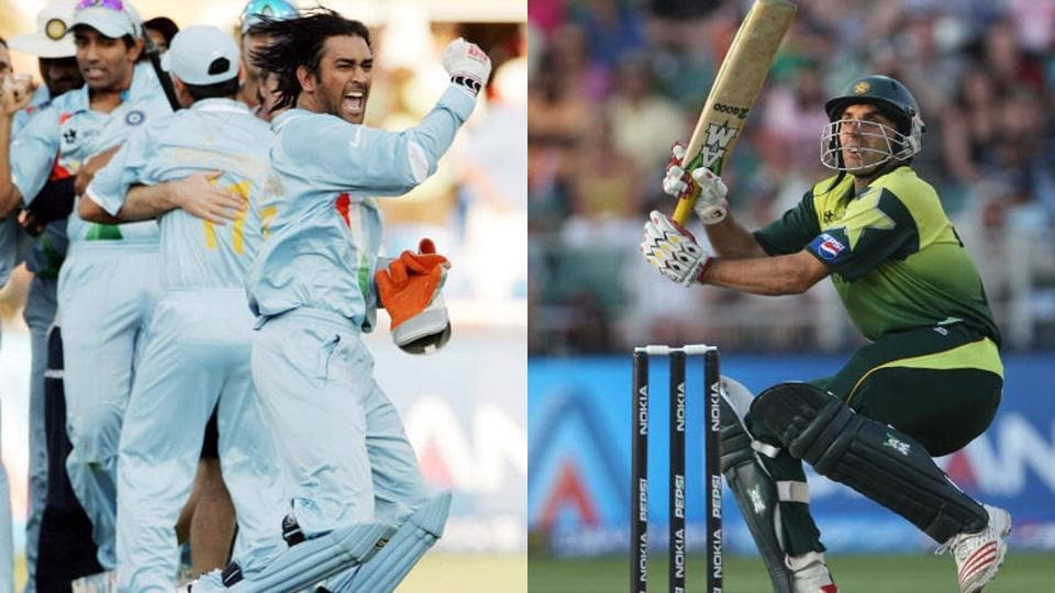 A jubilant MS Dhoni after Misbah Ul Haq played the scoop shot and got out in the T20 World Cup final.