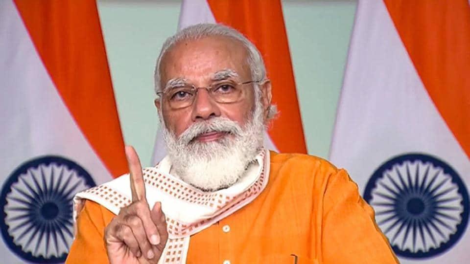 Prime Minister Narendra Modi addresses students at the Smart India Hackathon 2020 grand finale, through video conferencing, in New Delhi