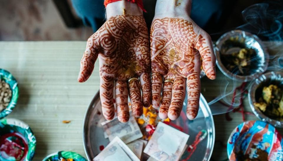 Mehndi symbolises an auspicious occasion and is worn for most of the festivals in the country.
