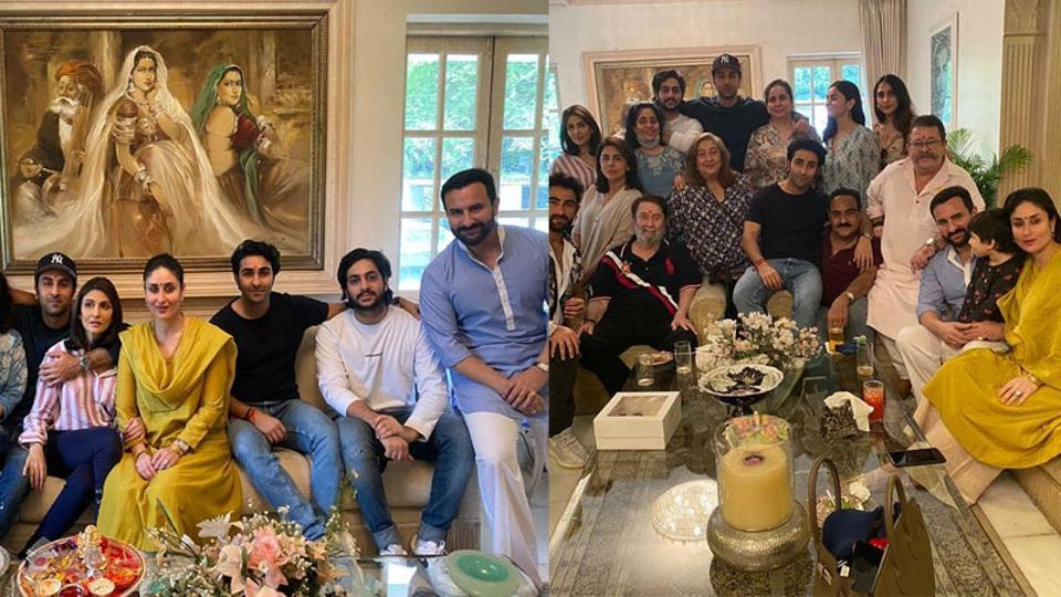 Kareena Kapoor has shared a few pictures from the Kapoor family lunch on Raksha Bandhan.