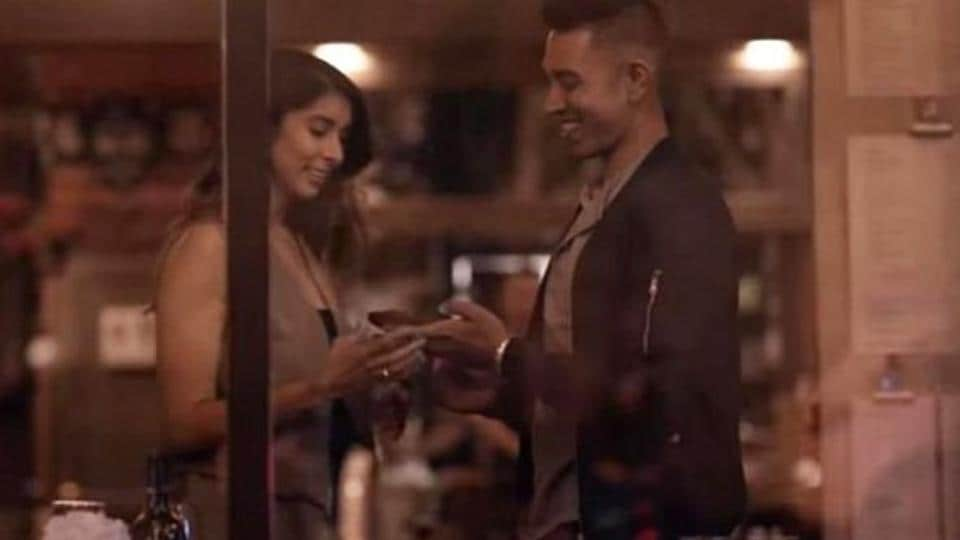 Nadia and Vinay in a still from Indian Matchmaking.