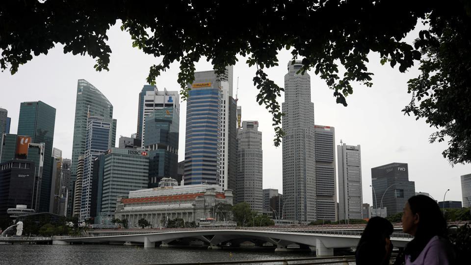 A view of Singapore skyline, amid the coronavirus disease (Covid-19) outbreak.