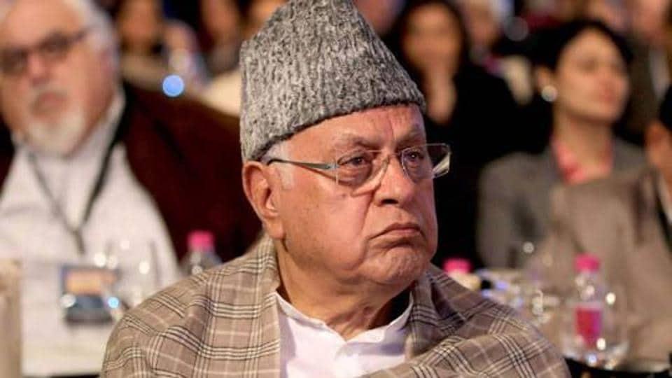 Former Jammu and Kashmir chief minister Farooq Abdullah