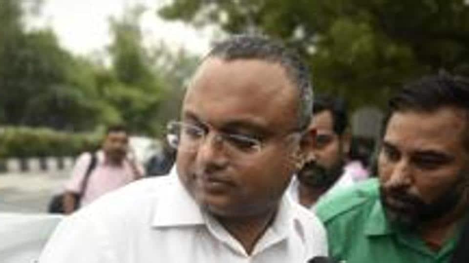 File photo: Former finance minister P Chidambaram's son Karti Chidambaram.