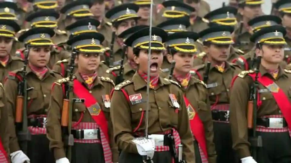 An all women contingent of the Indian Army during the Republic Day parade at Rajpath in New Delhi.