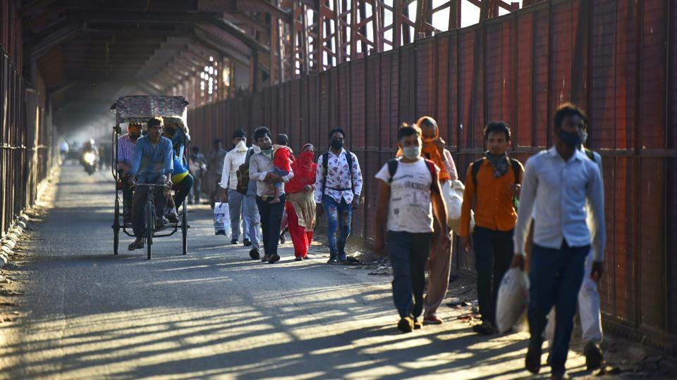 Iron Bridge in East Delhi, India