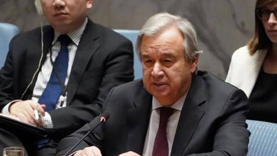 Secretary General of the United Nations Antonio Guterres .