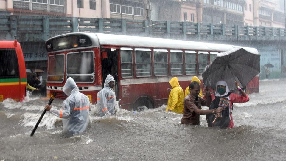Torrential rain led to massive waterlogging in Mumbai's Byculla area on Wednesday.