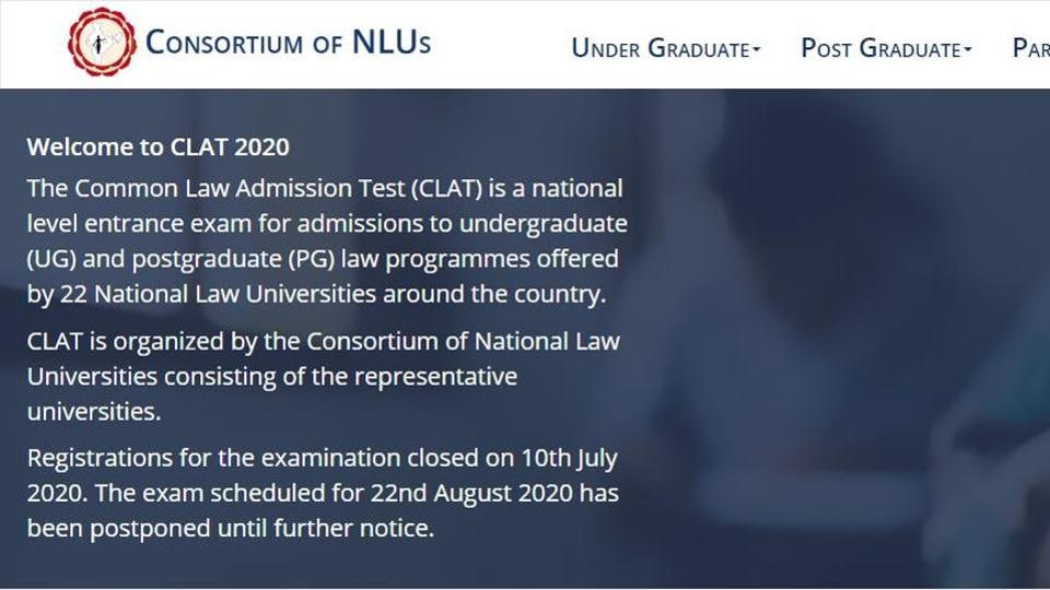 CLAT 2020 exam postponed.