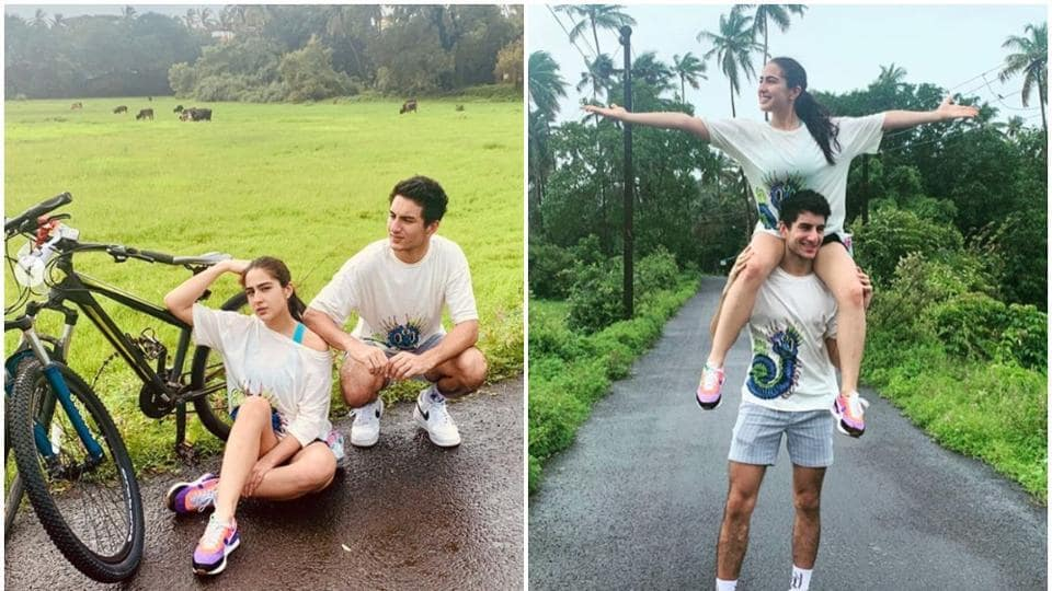Sara Ali Khan shares fresh pictures with her brother, Ibrahim.