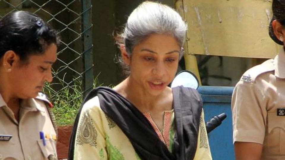 Indrani Mukerjea, accused in Sheena Bora murder case being taken to session court, in Mumbai.