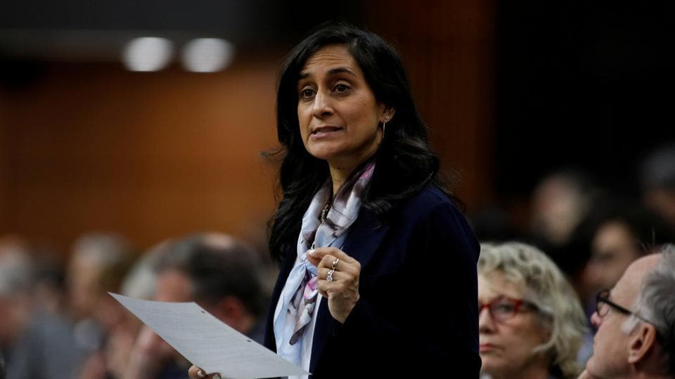Canada's Minister of Public Services and Procurement Anita Anand speaks during Question Period in the House of Commons on Parliament Hill in Ottawa, Ontario, Canada.