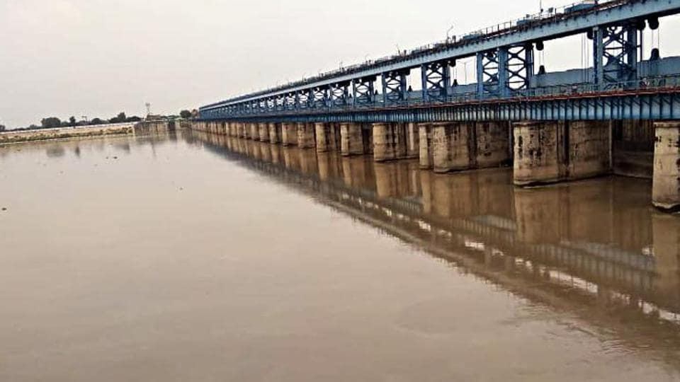 The water level of Ganga river reaches at the warning point in Kanpur.
