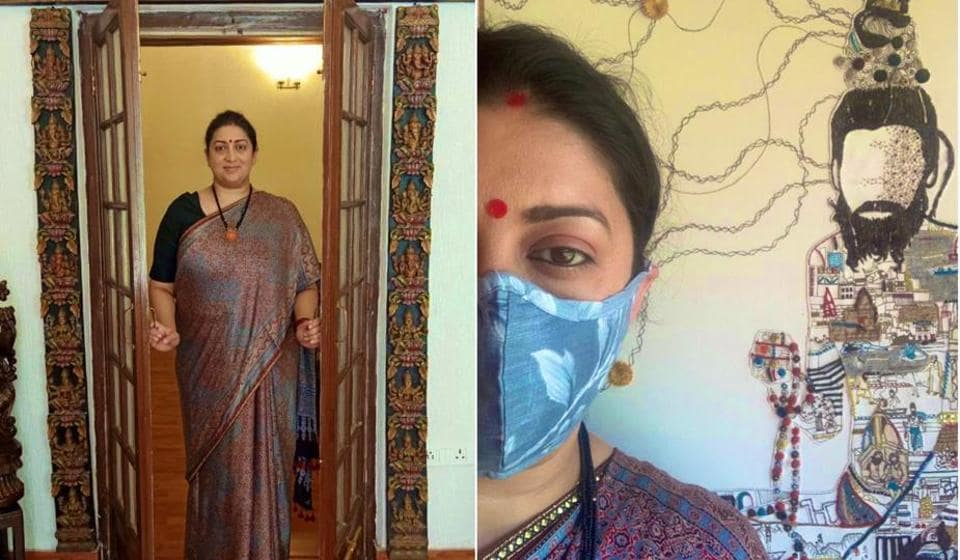 Union Cabinet Minister for Textiles Smriti Z Irani took to social media to advocate and promote the use of handlooms.