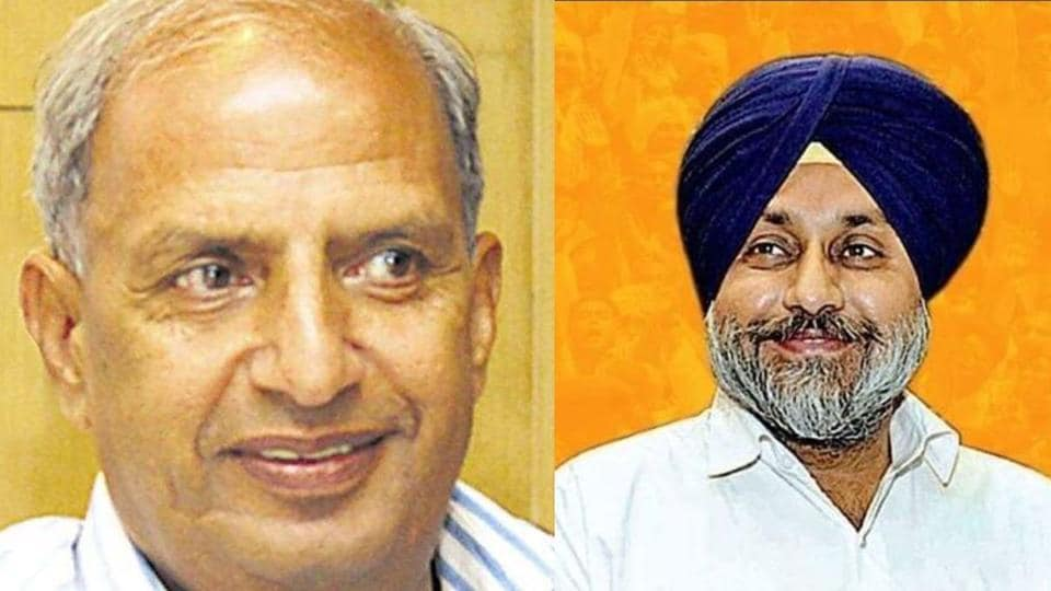 Harcharan Bains (left) has been made a permanent invitee to all top decision-making bodies of the Shiromani Akali Dal, including the core committee, in an advisory capacity, SADchief Sukhbir Singh Badal (right) said in Chandigarh on Friday.