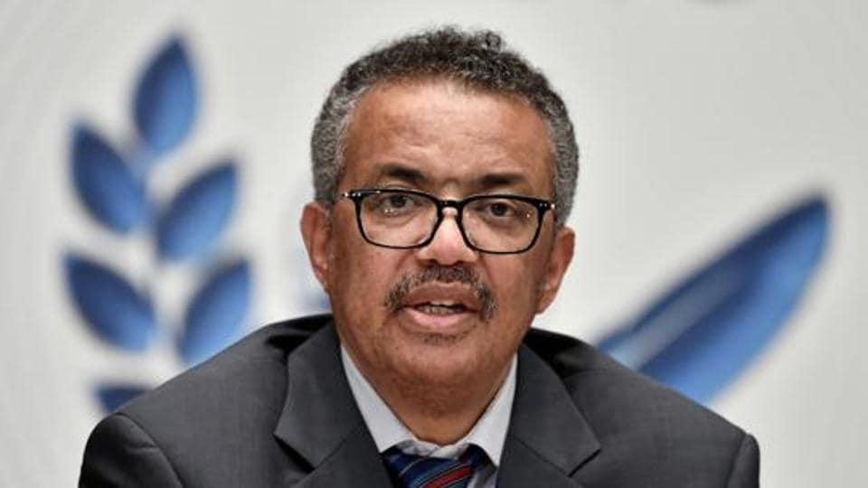 World Health Organization (WHO) Director-General Tedros Adhanom Ghebreyesus during a news conference organized by Geneva Association of United Nations Correspondents (ACANU) amid the Covid-19 outbreak.