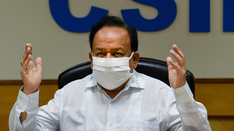 Health minister Dr Harsh Vardhan said out of 36 Indian states and Union territories, 33 were performing over 140 Covid-19 tests per million population daily as per WHO's guidelines.