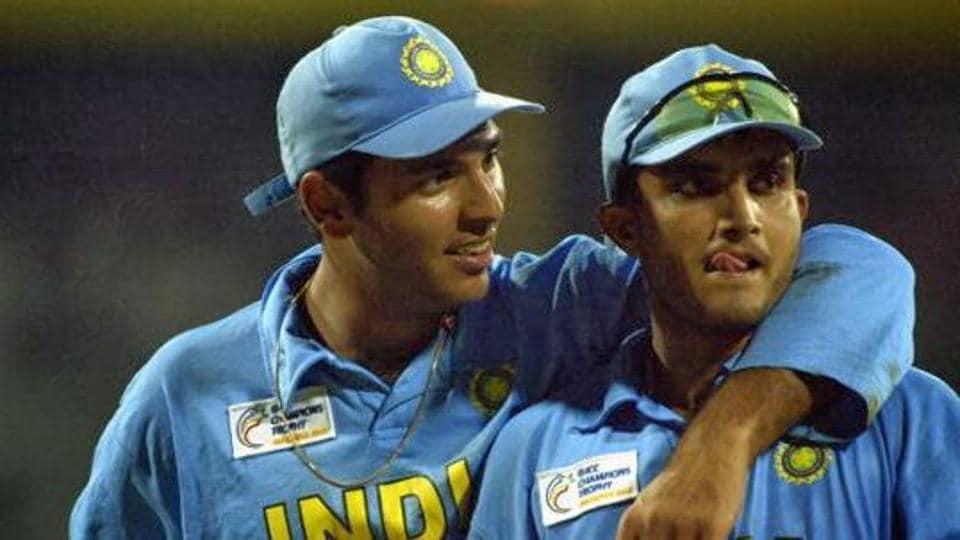 Yuvraj Singh and Sourav Ganguly.(Getty Images)