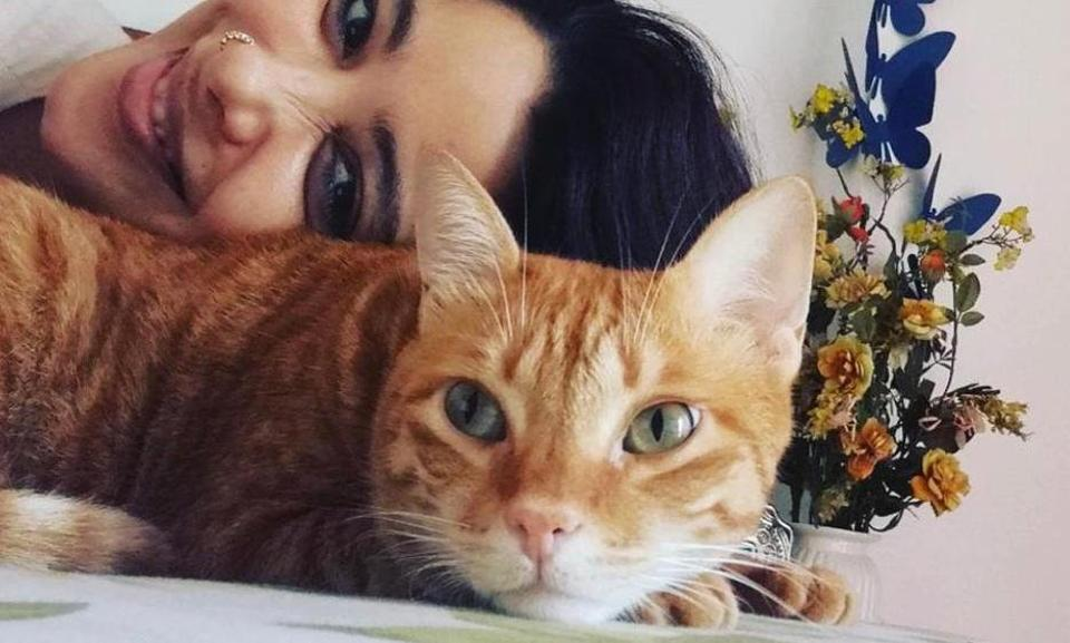 Fashion designer Nida Mahmood has learnt the art of patience from her cat Mr Toffee Tinkerbell.