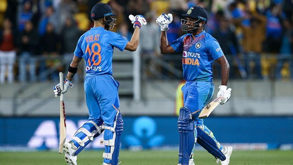 Virat Kohli and Sanju Samson during a T20I against New Zealand earlier this year.