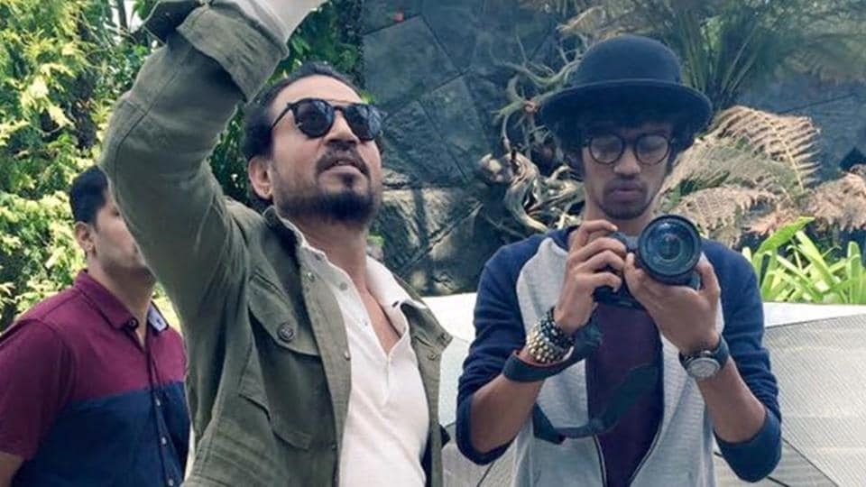 Late actor Irrfan with his son Babil in an old family picture.