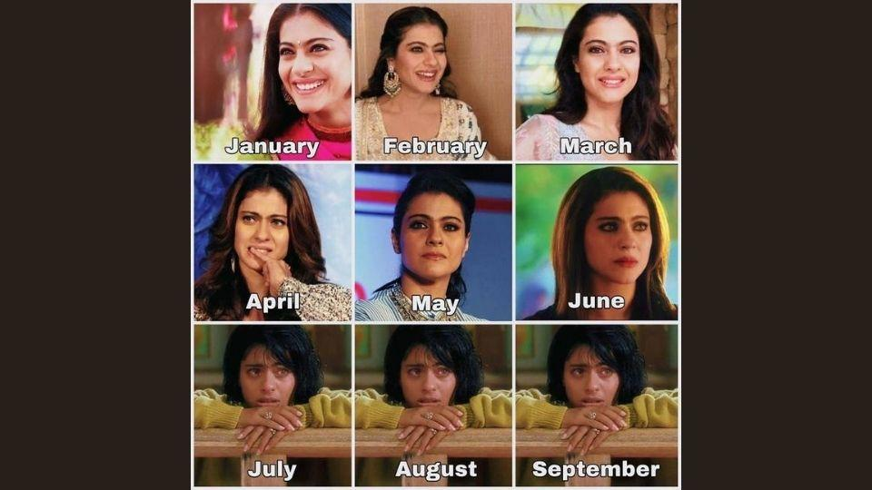 Kajol took to Instagram to share this 2020 mood calendar.