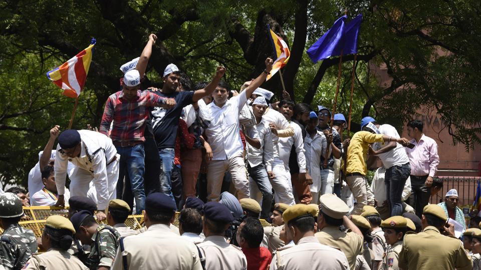 Members of Bhim Army in Delhi.