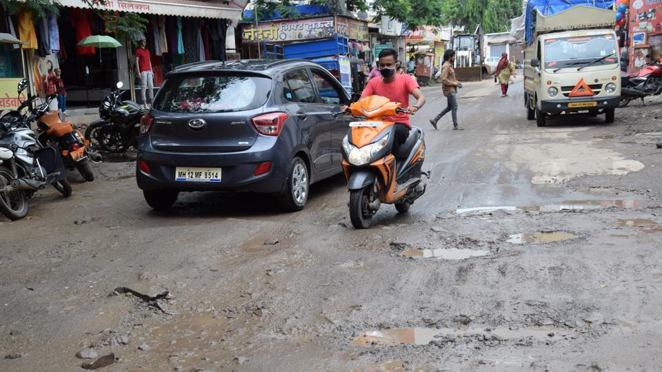 Rahatani residents have also been facing the pothole issue for the last four months.