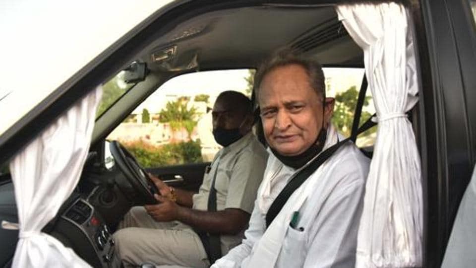 Rajasthan chief minister Ashok Gehlot will likely face a floor test when assembly session starts on August 14.  (HT Photo)