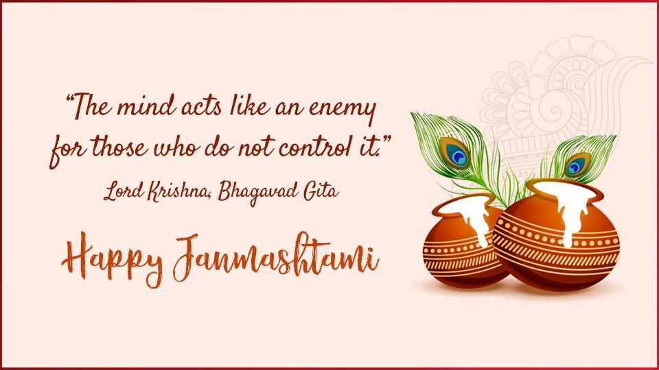 Send the best of your wishes to your family and friends, this Janmashtami .