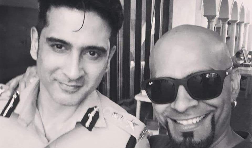 Raghu Ram with the late Sameer Sharma.