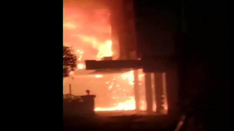 Fire broke out at a hotel in Andhra Pradesh's Vijayawada.