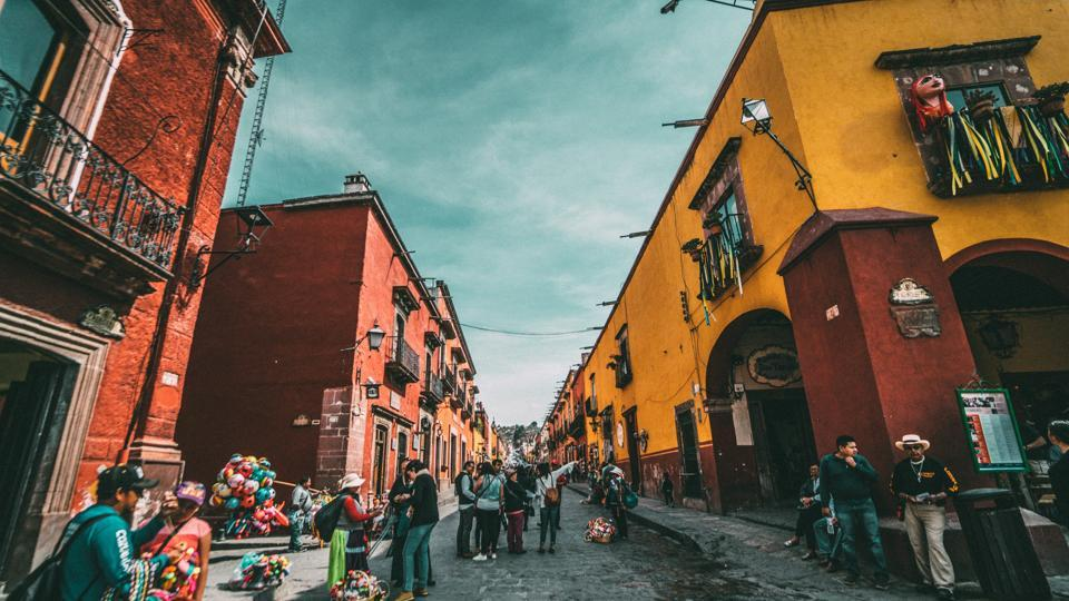 A colourful street in Mexico teeming with people. (Representational Image)