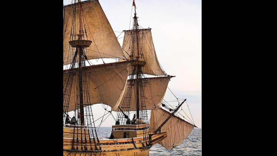 The Mayflower II is slated to complete the final leg of its journey on Monday.