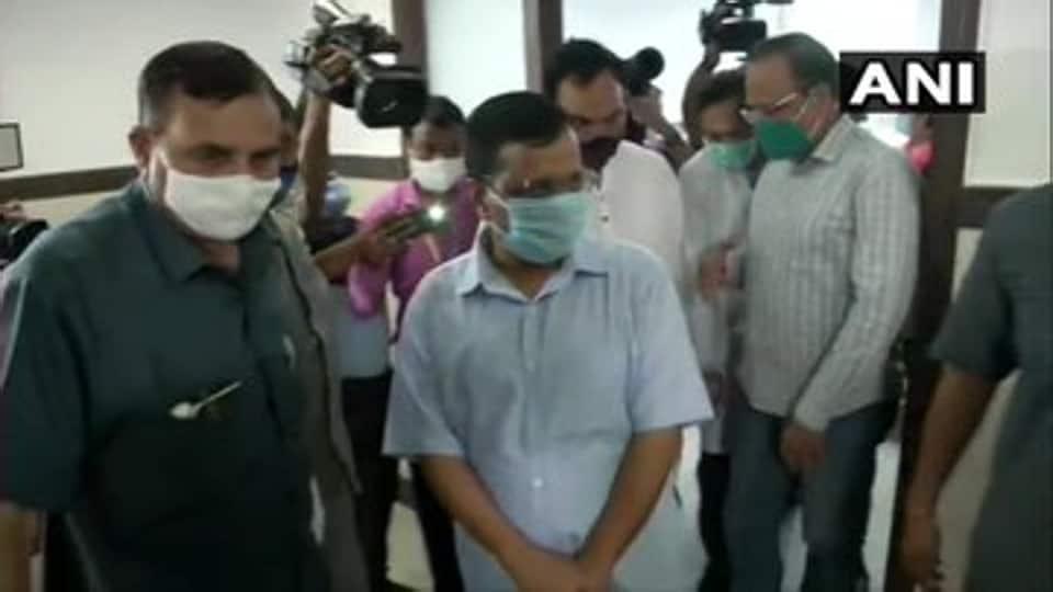 Delhi chief minister Arvind Kejriwal inaugurated a government hospital at Ambedkar Nagar on August 9, 2020.