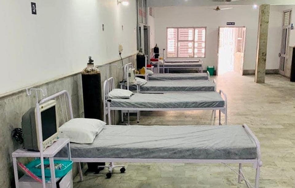 The Covid care centre set up by IMA Ludhiana doctors at Lord Mahavira Homeo College.