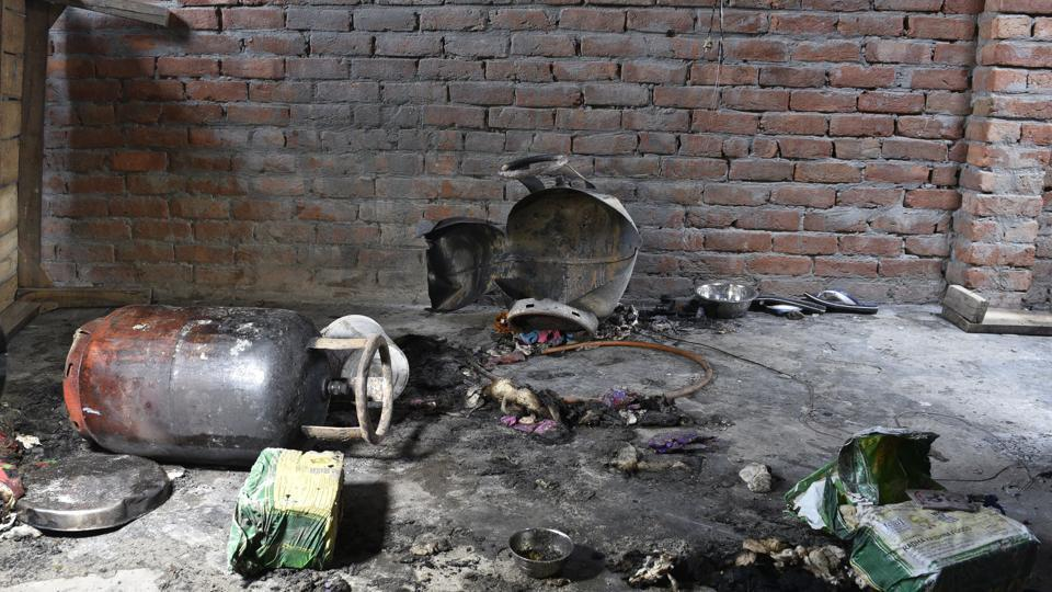 The call about the cylinder blast was received by the fire department at 7pm and eight fire tenders were dispatched to control the situation at the Jhuggi Jhopdi Colony of Tigri, said Atul Garg, director, Delhi Fire Services.